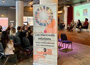 Affiche des mercredis solutions dans le cadre du world café.