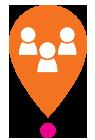 Icône orange communauté Centre Génération Emploi Montréal